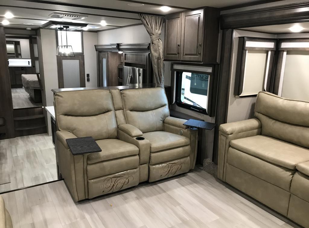 2021 Grand Design Solitude 380FL R Front Livingroom & Rear Master Bathroom Luxury Fifth Wheel
