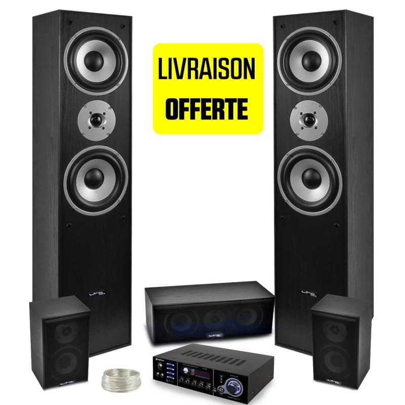 all 5 speakers ltc black e1004 hifi home cinema av amplifier 850w usb 320 stereo karaoke