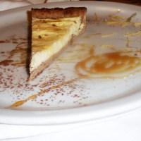 Crostata con pasta frolla di castagne e crema di ricotta