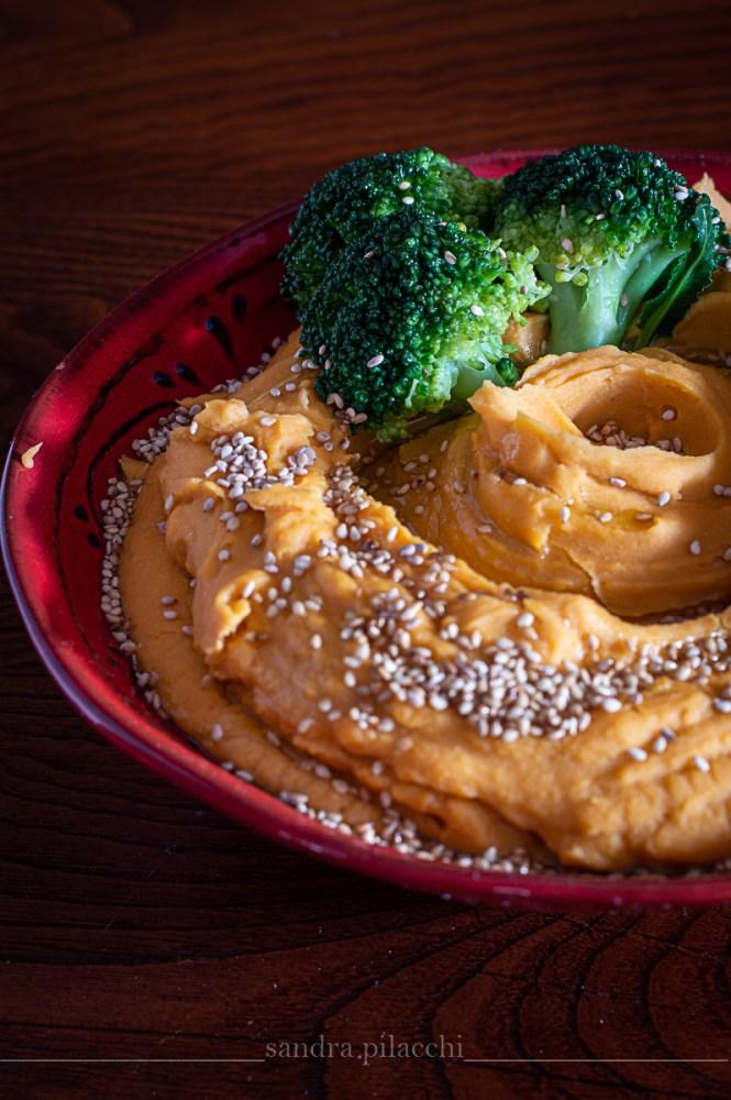 Crema di lenticchie rosse decorticate  e broccoli