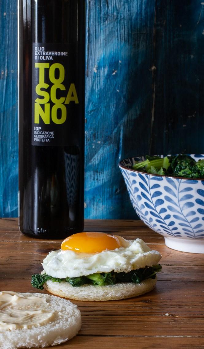 Pancarrè all'olio extravergine di oliva IGP Toscano  e il tramezzino all'uovo
