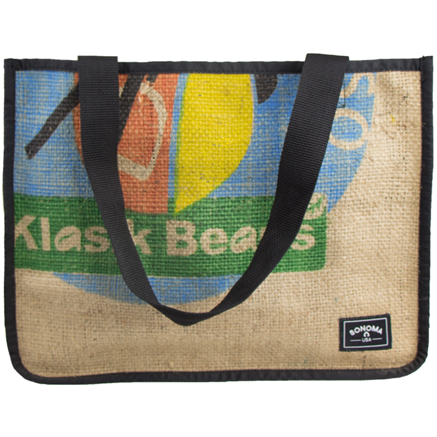 Weaver's Coffee Burlap Tote Bag 0002