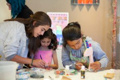 Children making sculptures at Art Escape in the Sonoma Valley