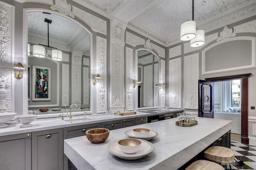 kitchen mirrors cabinets with crown molding 7 ways can make any room look bigger in the yes indeed a well placed mirror create sense of space what is usually one smallest rooms house