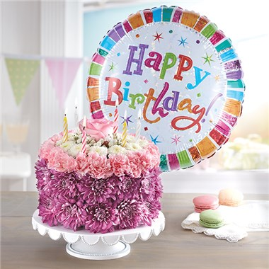 1 800 FLOWERS® BIRTHDAY WISHES FLOWER CAKE ™ PASTEL