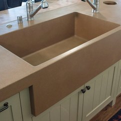Stone Kitchen Sink Budget Cabinets Sonoma Cast Concrete Sinks Integrated