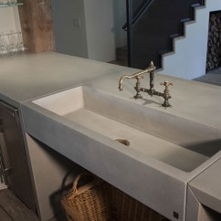 Stone Kitchen Sink Aid Range Sonoma Cast Concrete Sinks Farm For The