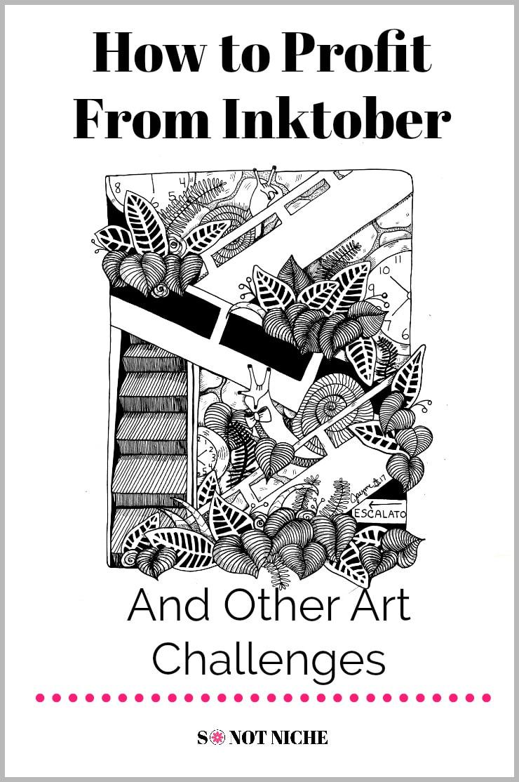How You Can Profit from Drawing for Inktober (and Other