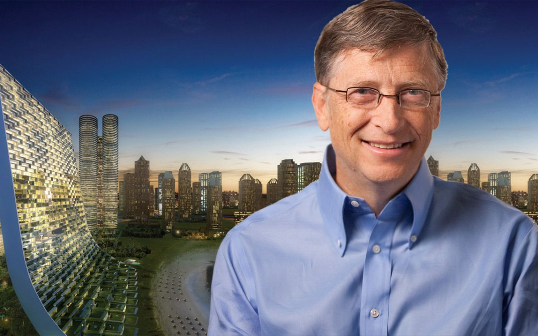 Bill Gates, jugando al Sim City