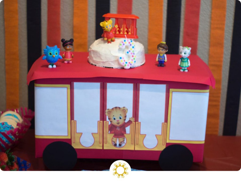 Daniel Tiger's Trolley Cake Stand (with logo overlay)