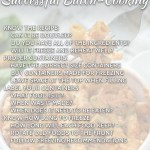 Baked ziti in a white bowl faded with text overlay