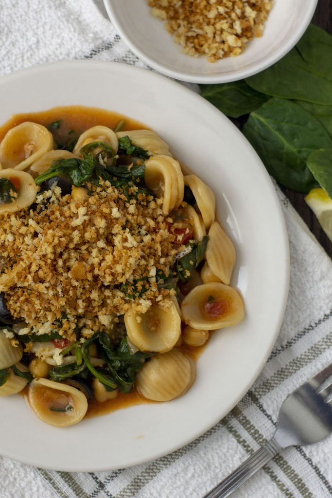 Chickpea and Spinach Orecchiette