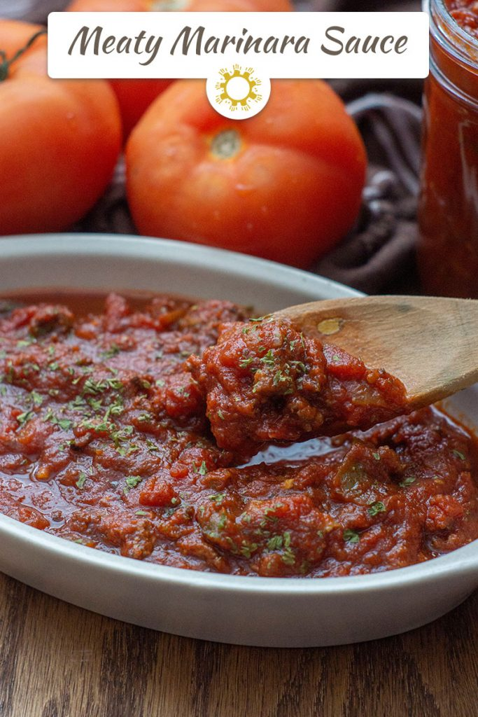 Meaty Marinara Sauce in the Slow Cooker