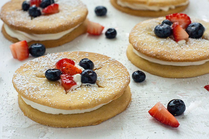 Berry Shortcake with Cornmeal Cookies