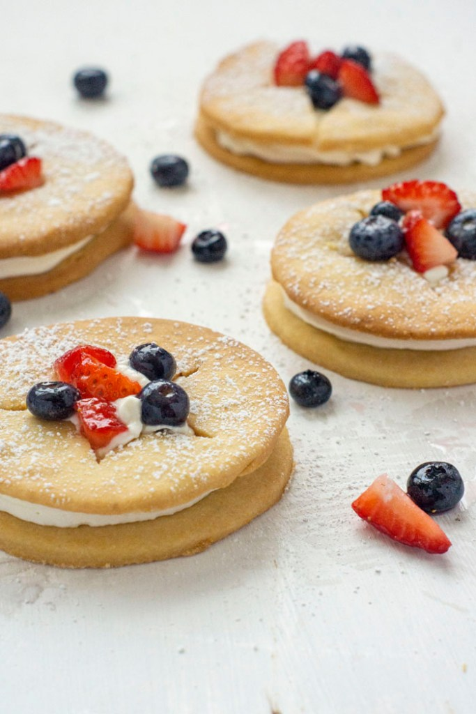 Berry Shortcake with Cornmeal Cookies (vertical)
