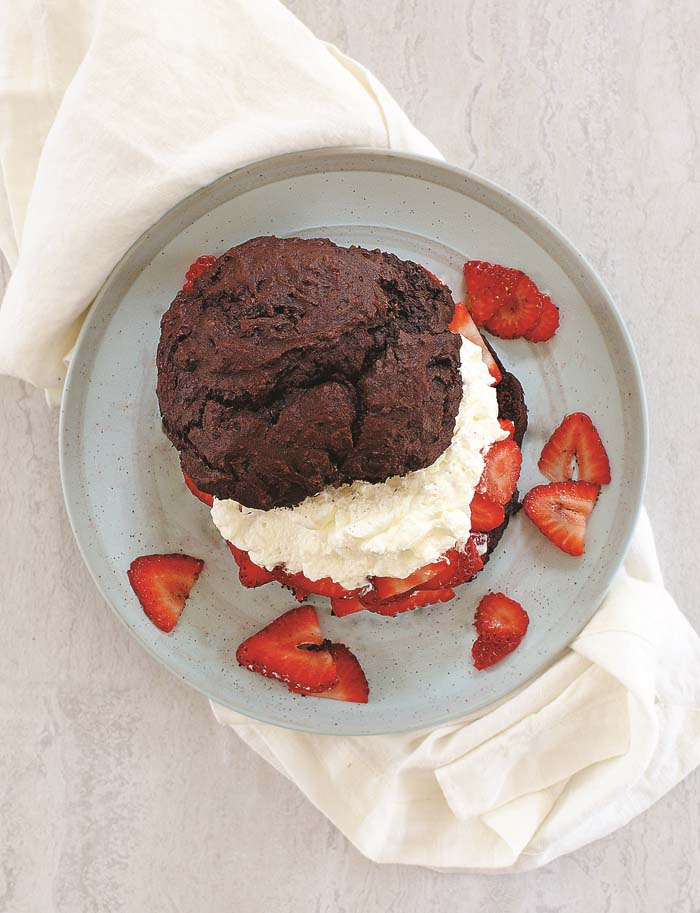 Chocolate Strawberry Shortcake from The Ultimate Cooking For One Cookbook