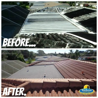 before and after roof replacement