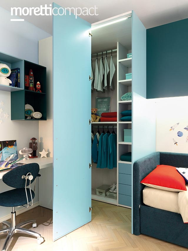 Chambre d ado avec lit canape modulable  MORETTI COMPACT