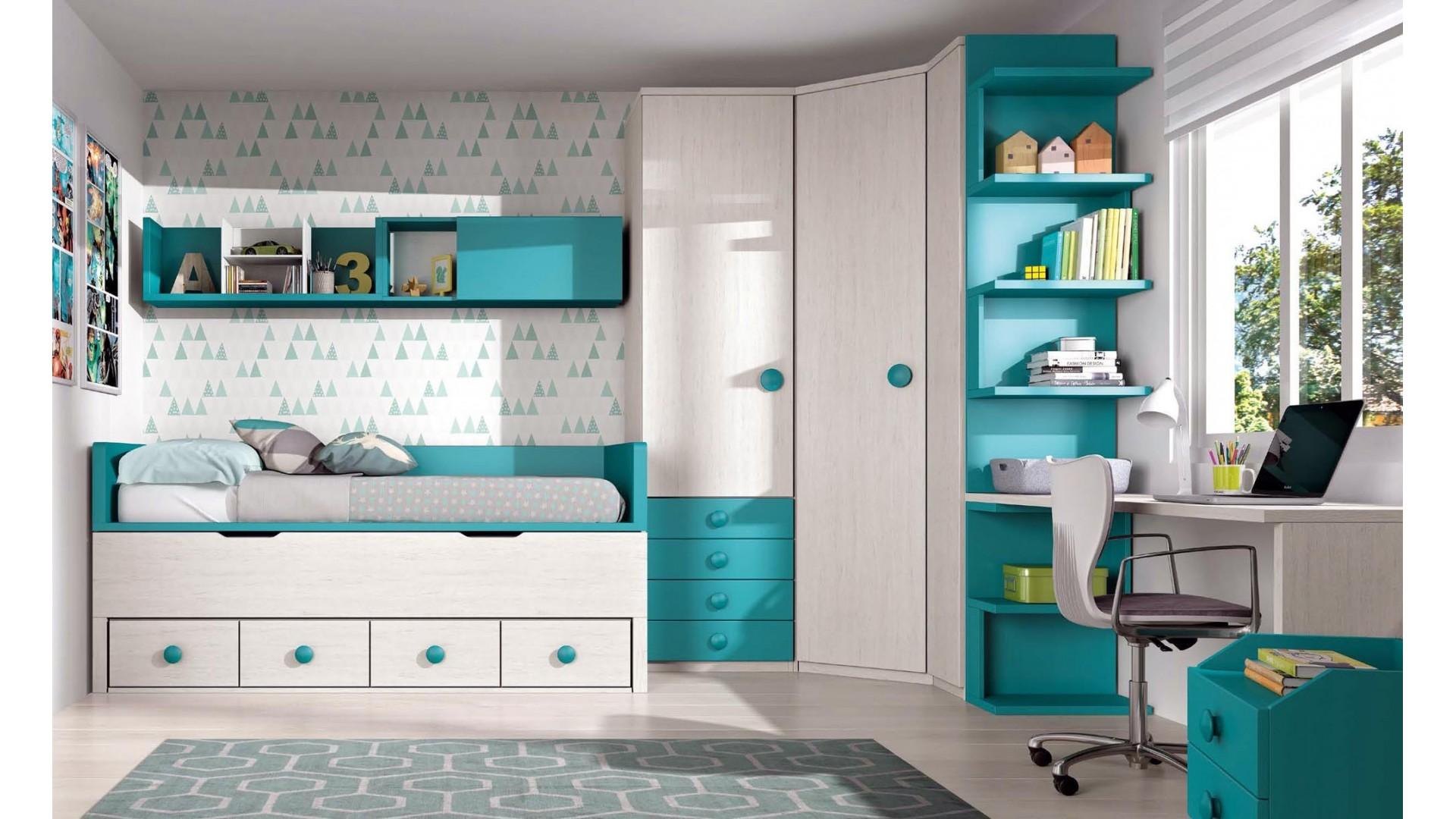 chambre enfant complete avec bureau personnalisable f009 glicerio