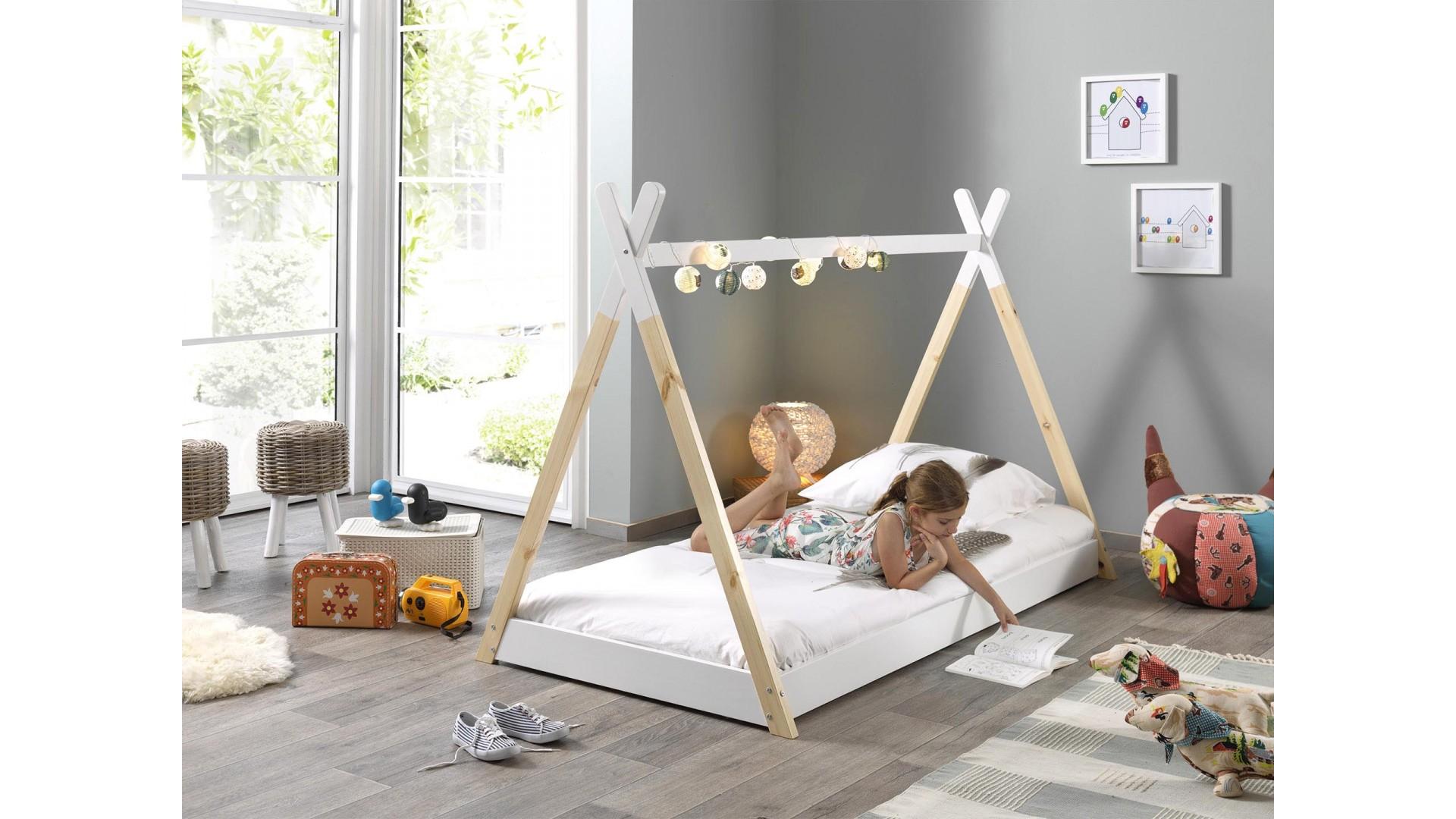lit cabane enfant tipi 90x200 cm sonuit