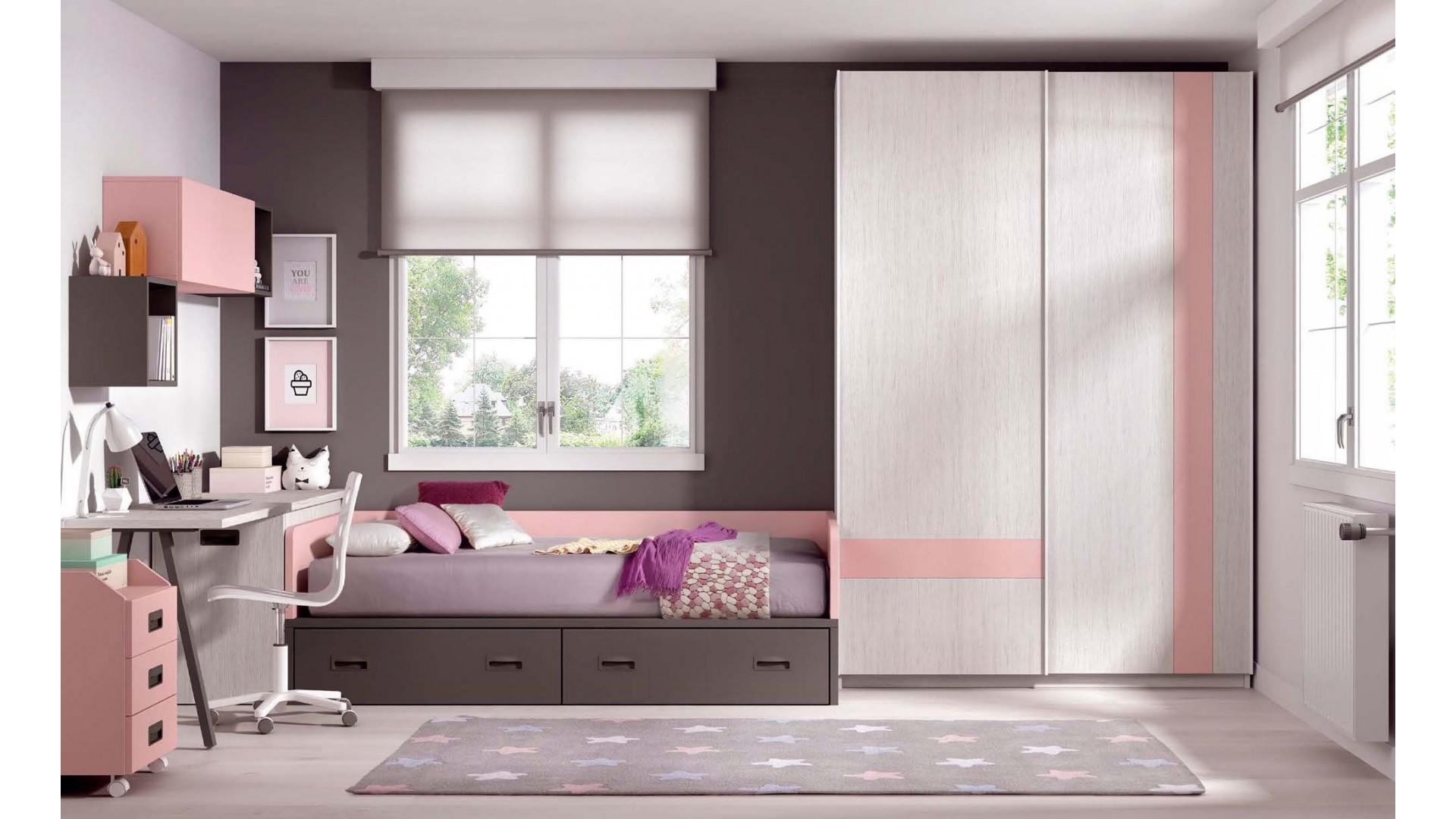 lit avec rangement integre dans chambre f109 glicerio