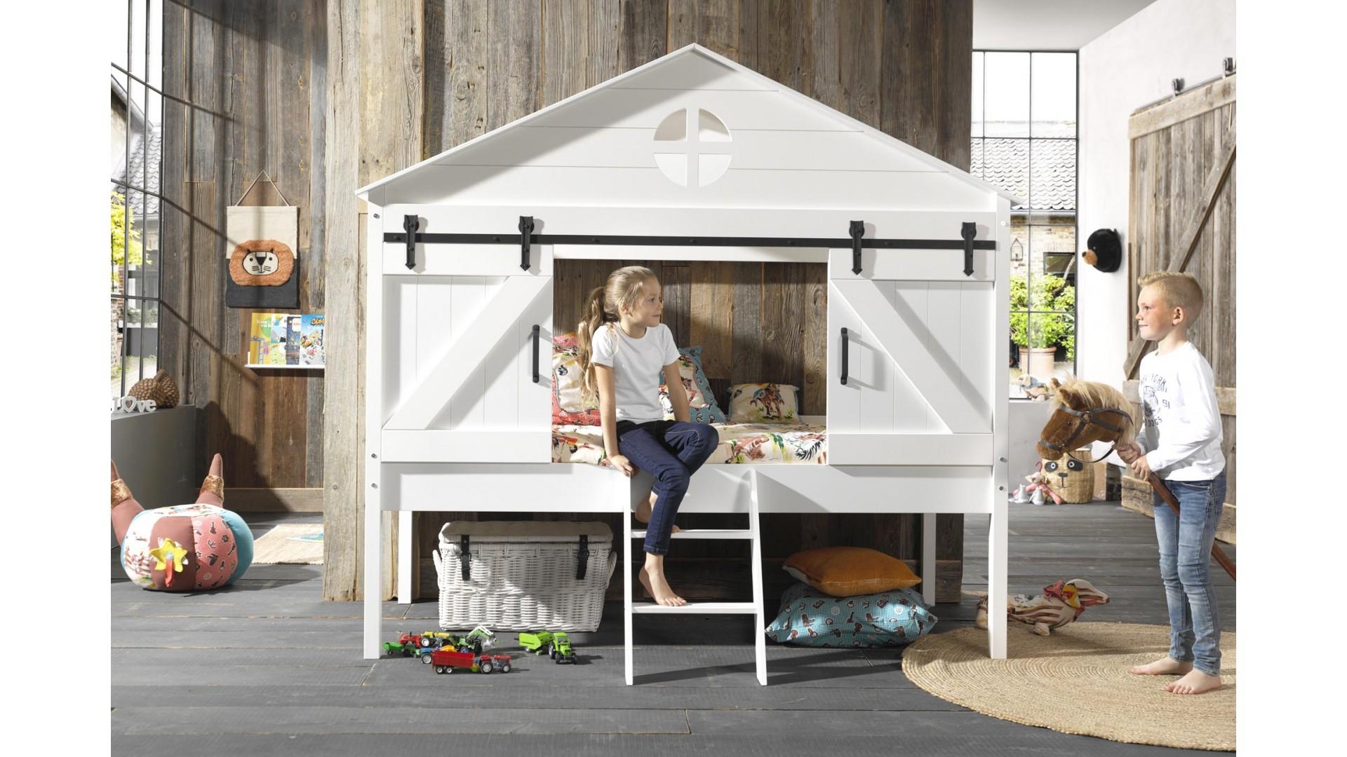 lit cabane enfant blanc oceane 90x200 cm sonuit
