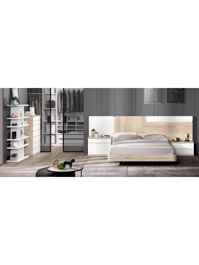 chambre a coucher adulte couchage 140 x 190 cm glicerio so nuit