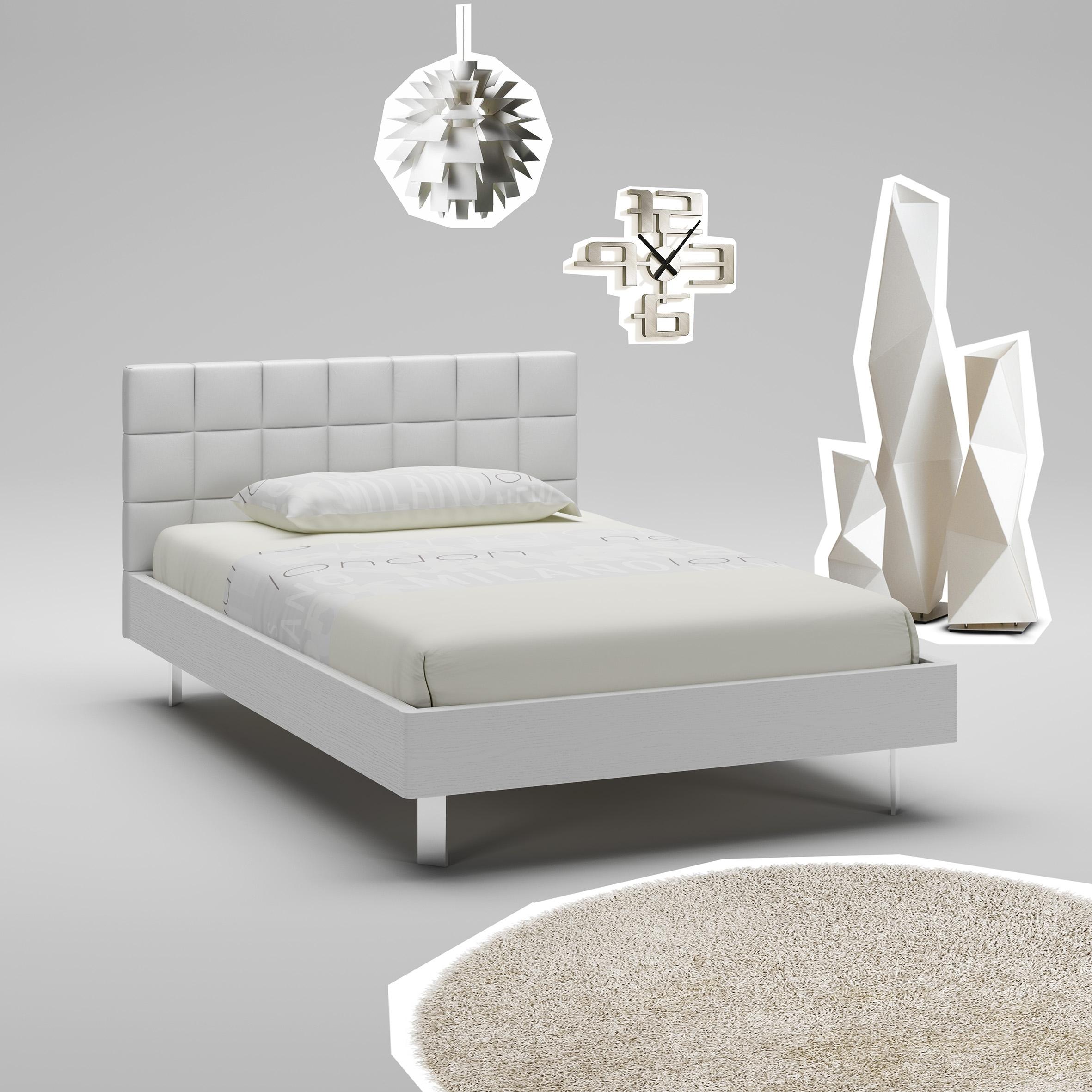 Lit ado blanc avec tte de lit rembourre  MORETTI