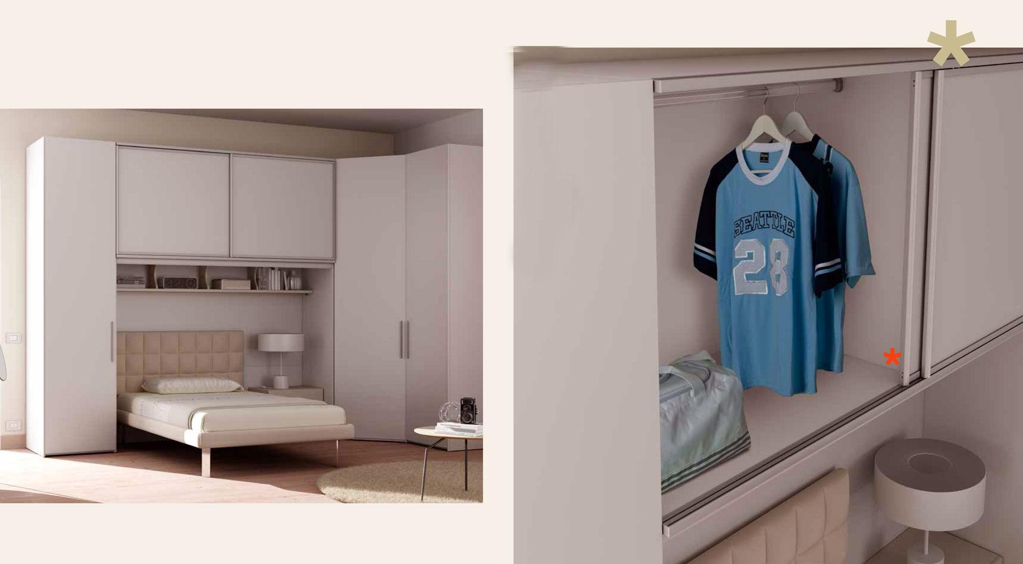 Chambre ado complte lit 1 personne design  MORETTI COMPACT  SO NUIT