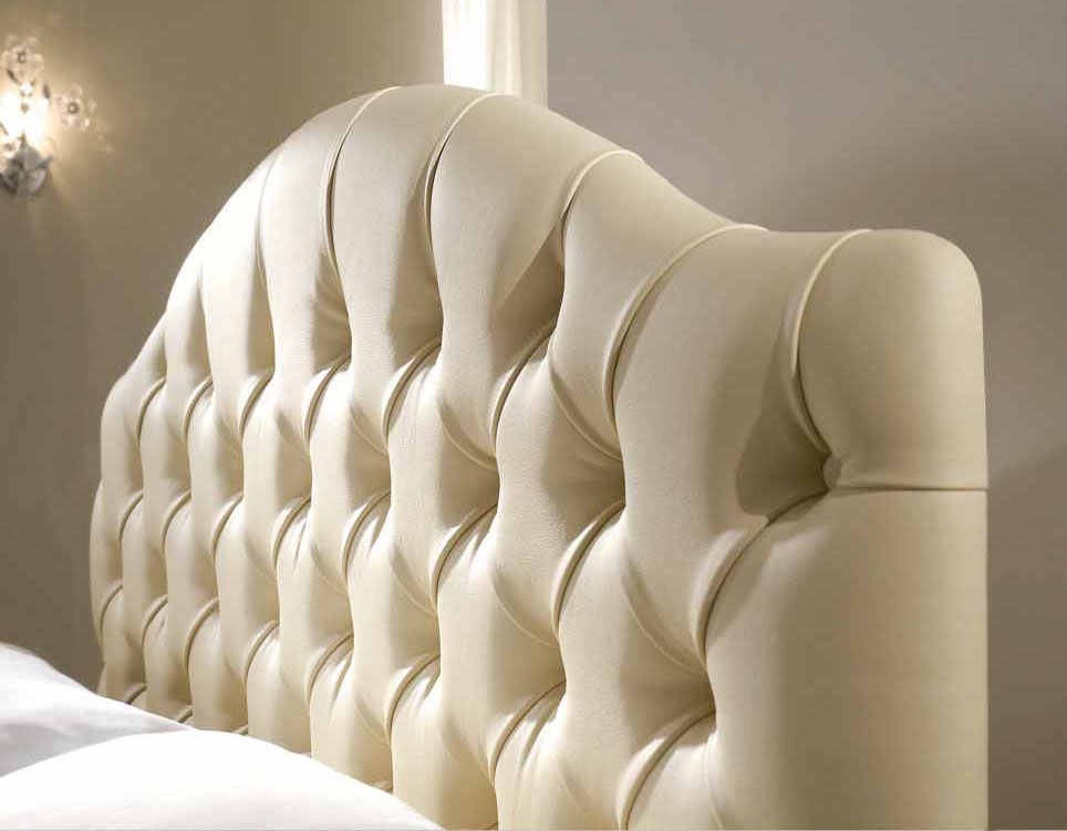 lit 2 places avec tete de lit beige