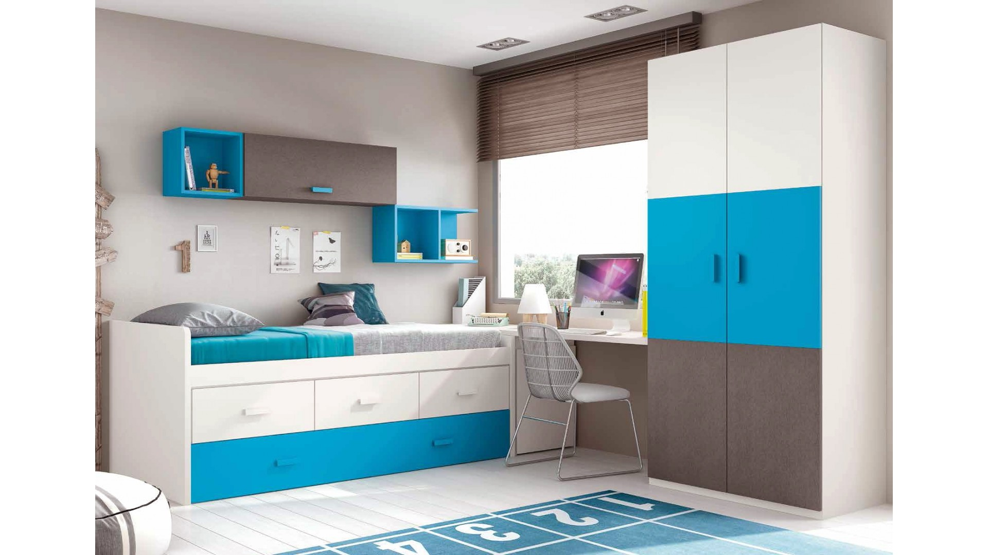 chambre garon moderne et fun avec lit surlev  GLICERIO