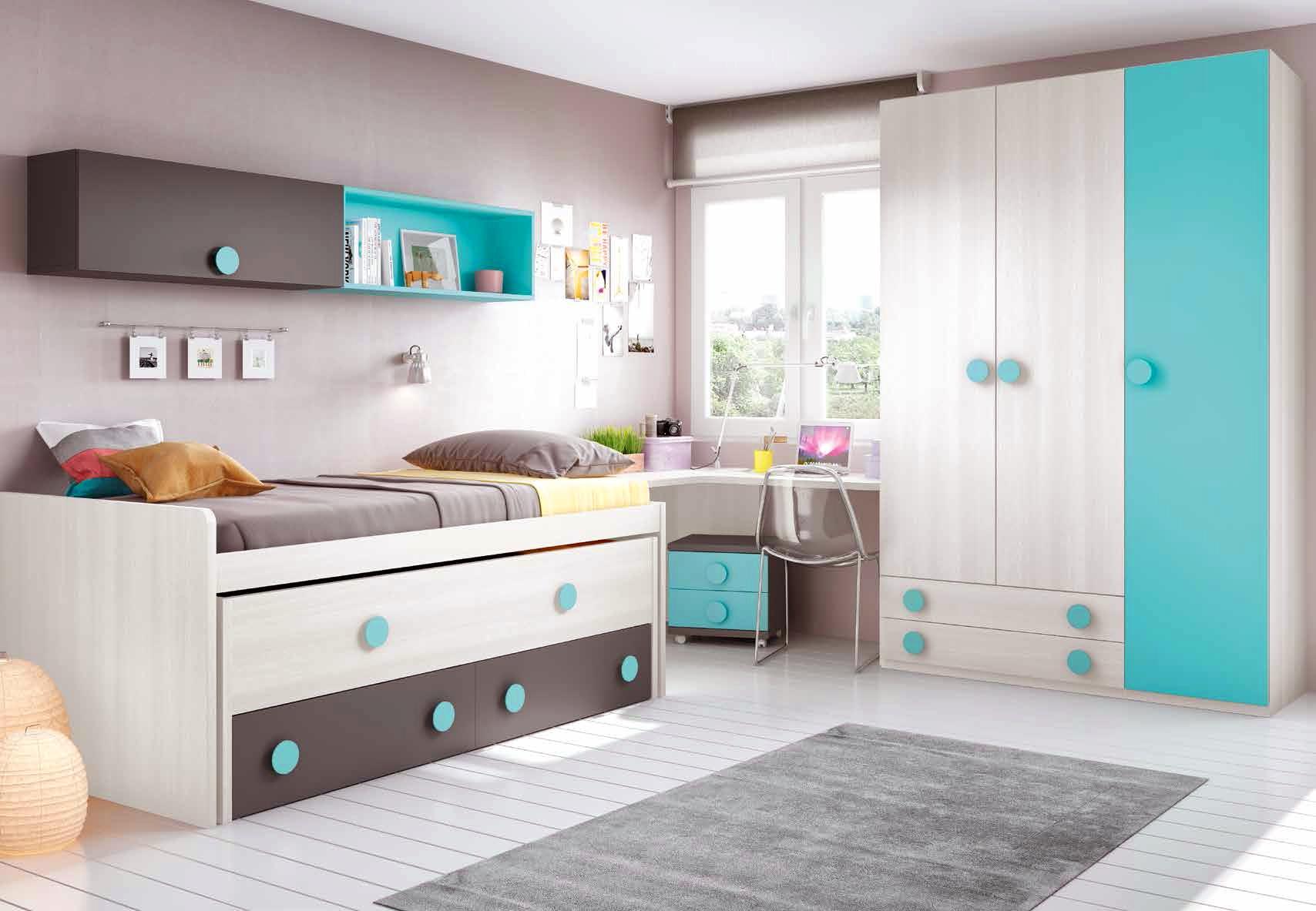 Chambre moderne ado complete design et colore  GLICERIO  SO NUIT