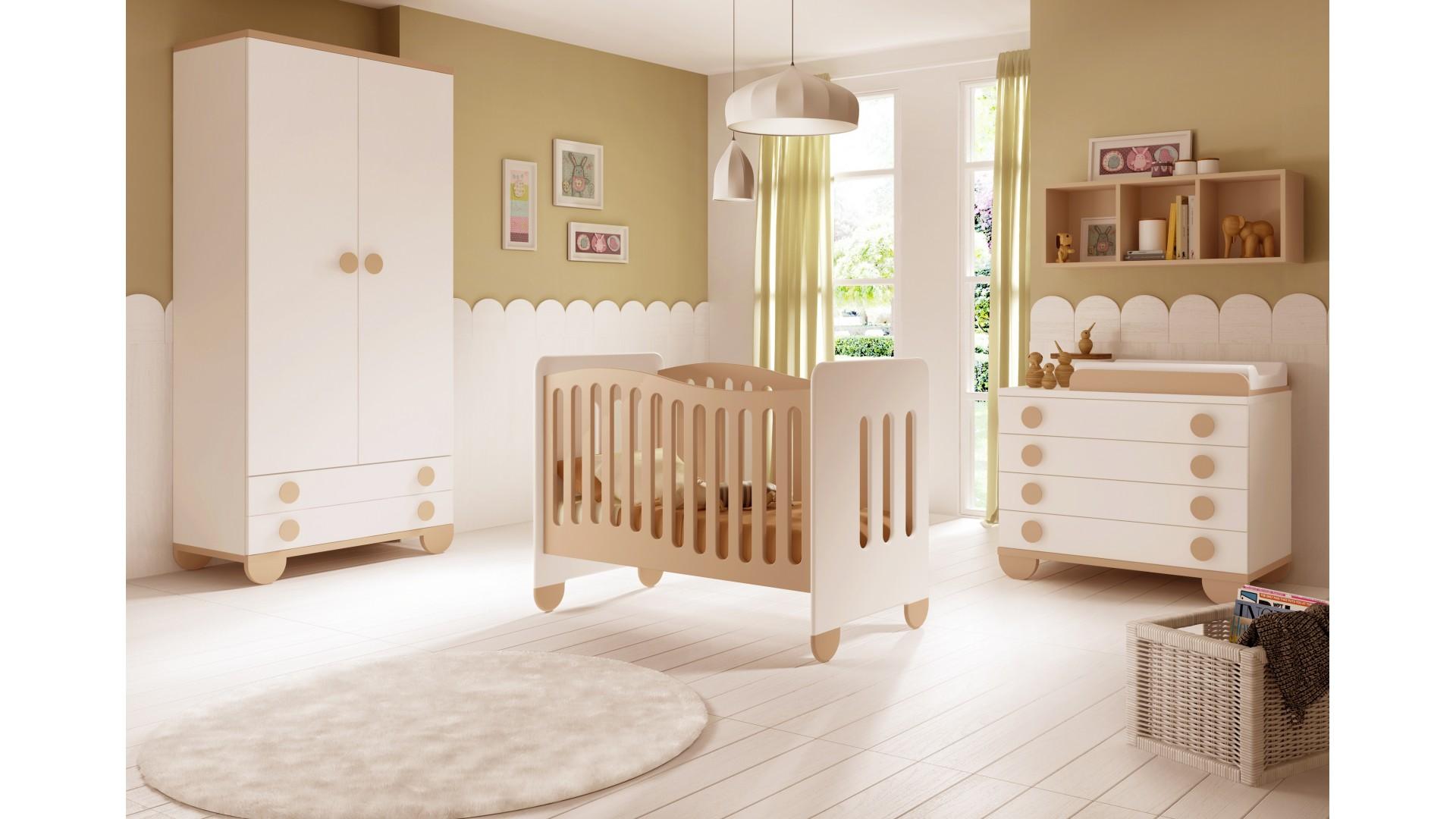 Chambre de bb mixte Gioco avec lit et armoire  GLICERIO  SO NUIT