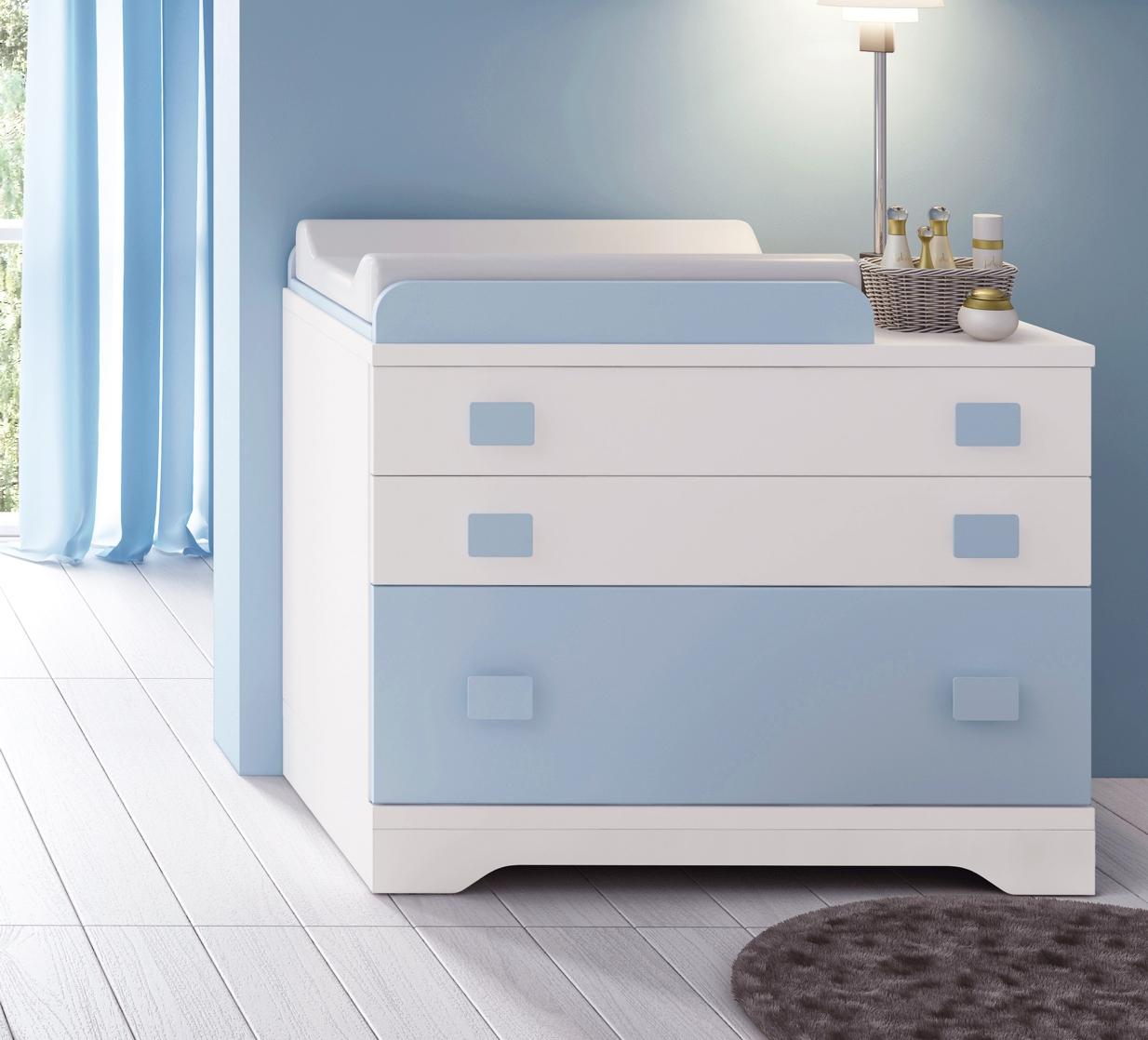 Chambre bb garon complte Gioco blanc et bleu  GLICERIO  SO NUIT