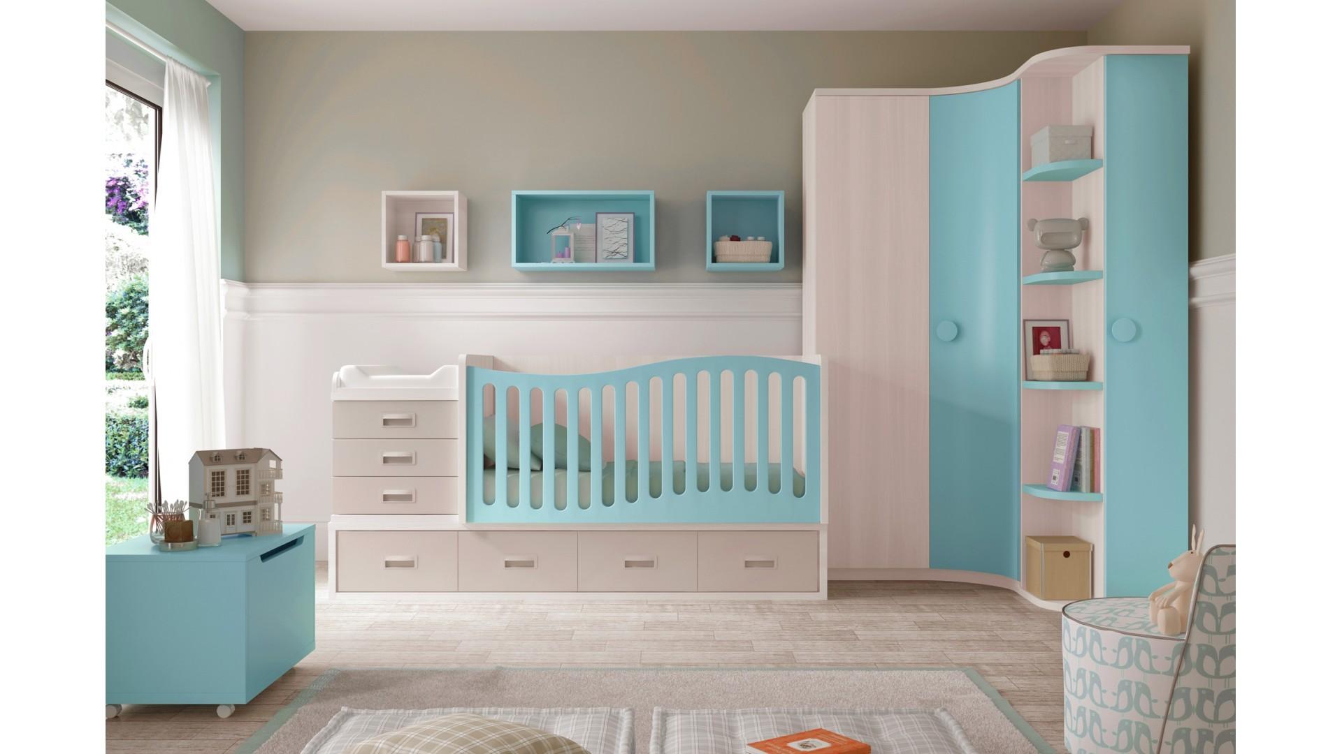 chambre evolutive avec lit pour bebe garcon glicerio
