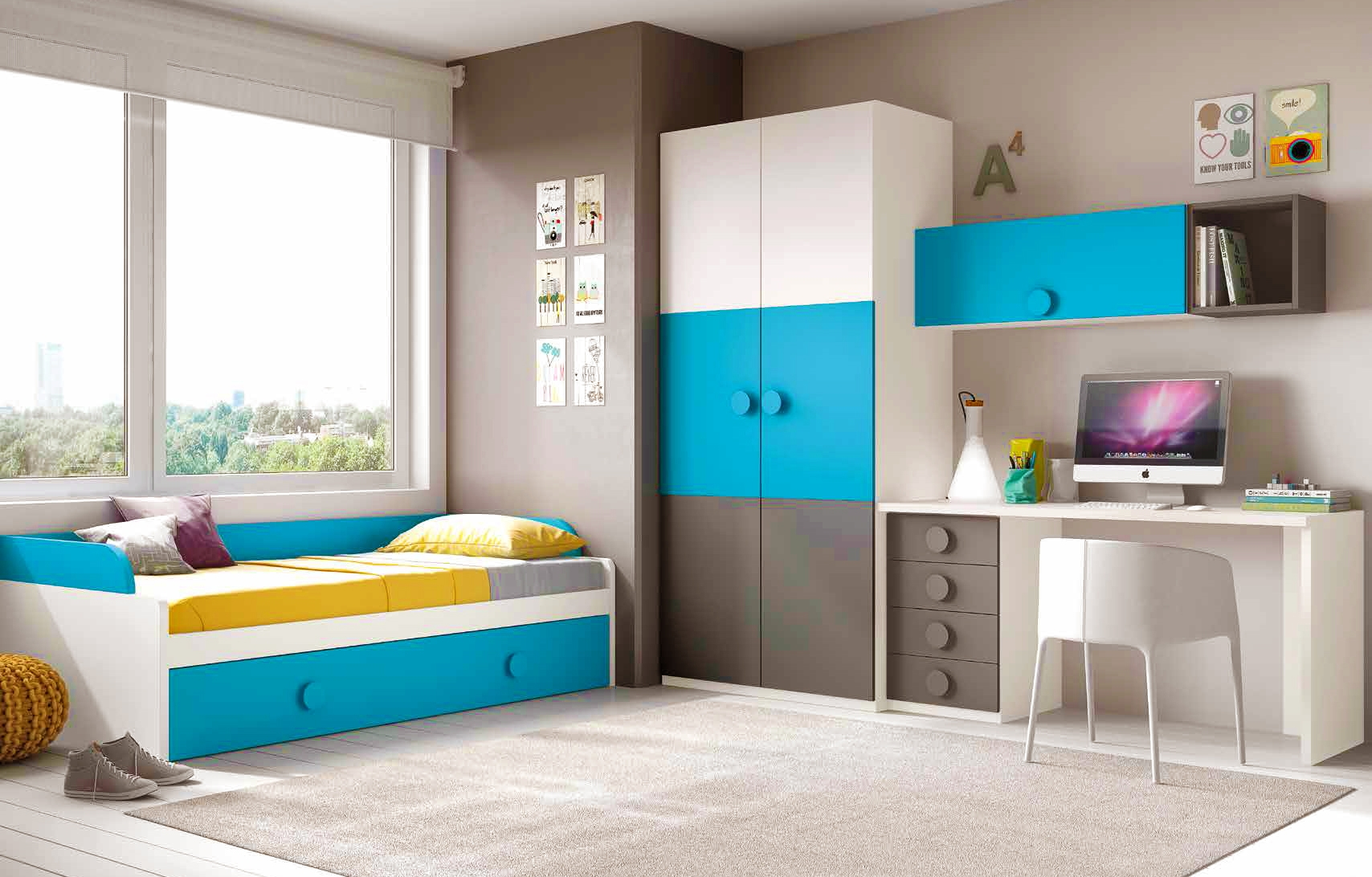 Chambre ado garon fun et design avec lit gigogne  GLICERIO  SO NUIT