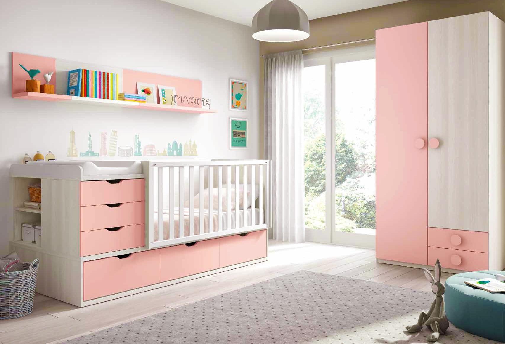 Chambre de bb fille complte avec lit volutif  GLICERIO  SO NUIT