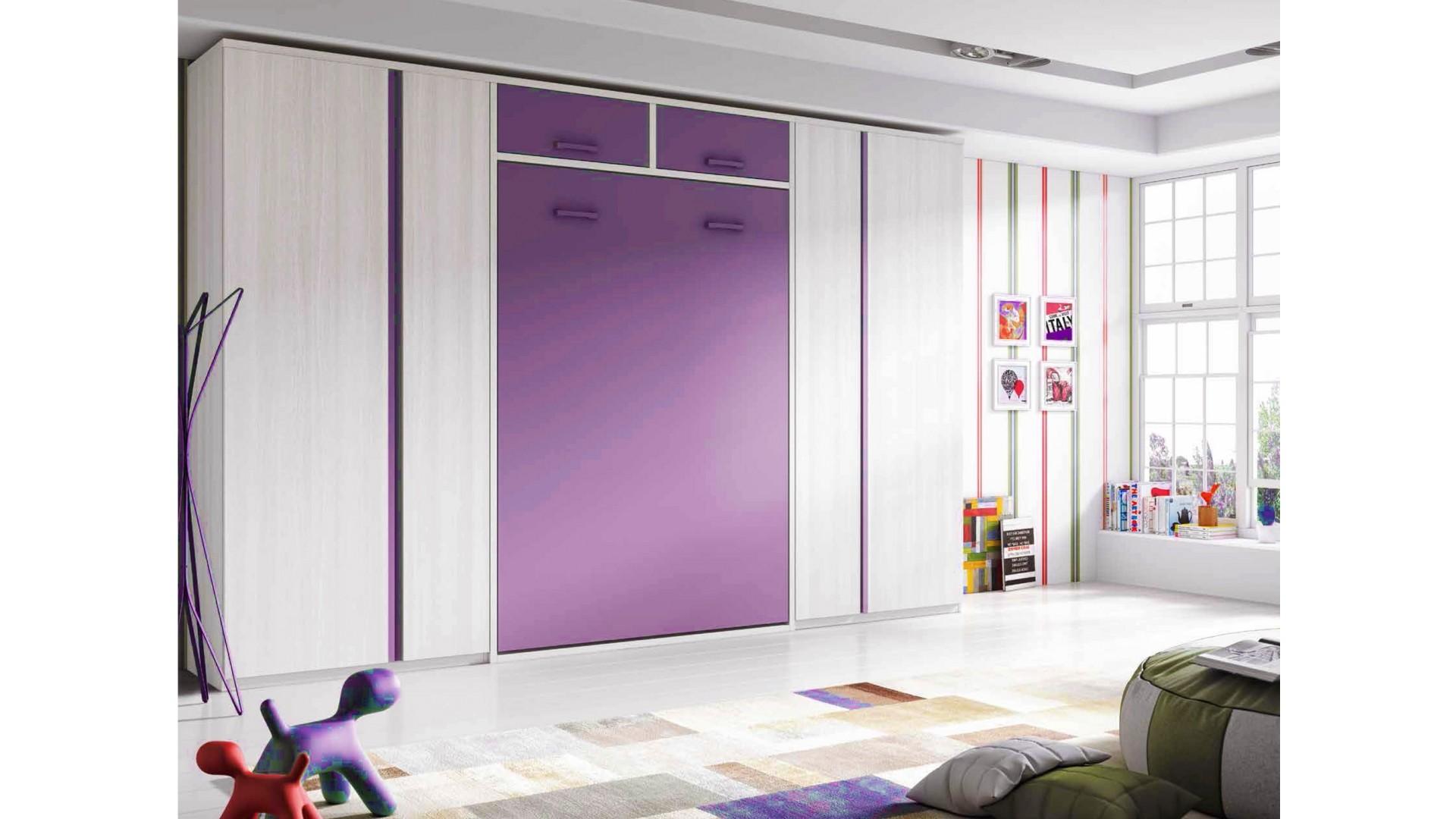 chambre enfant avec lit armoire escamotable personnalisable f364 glicerio