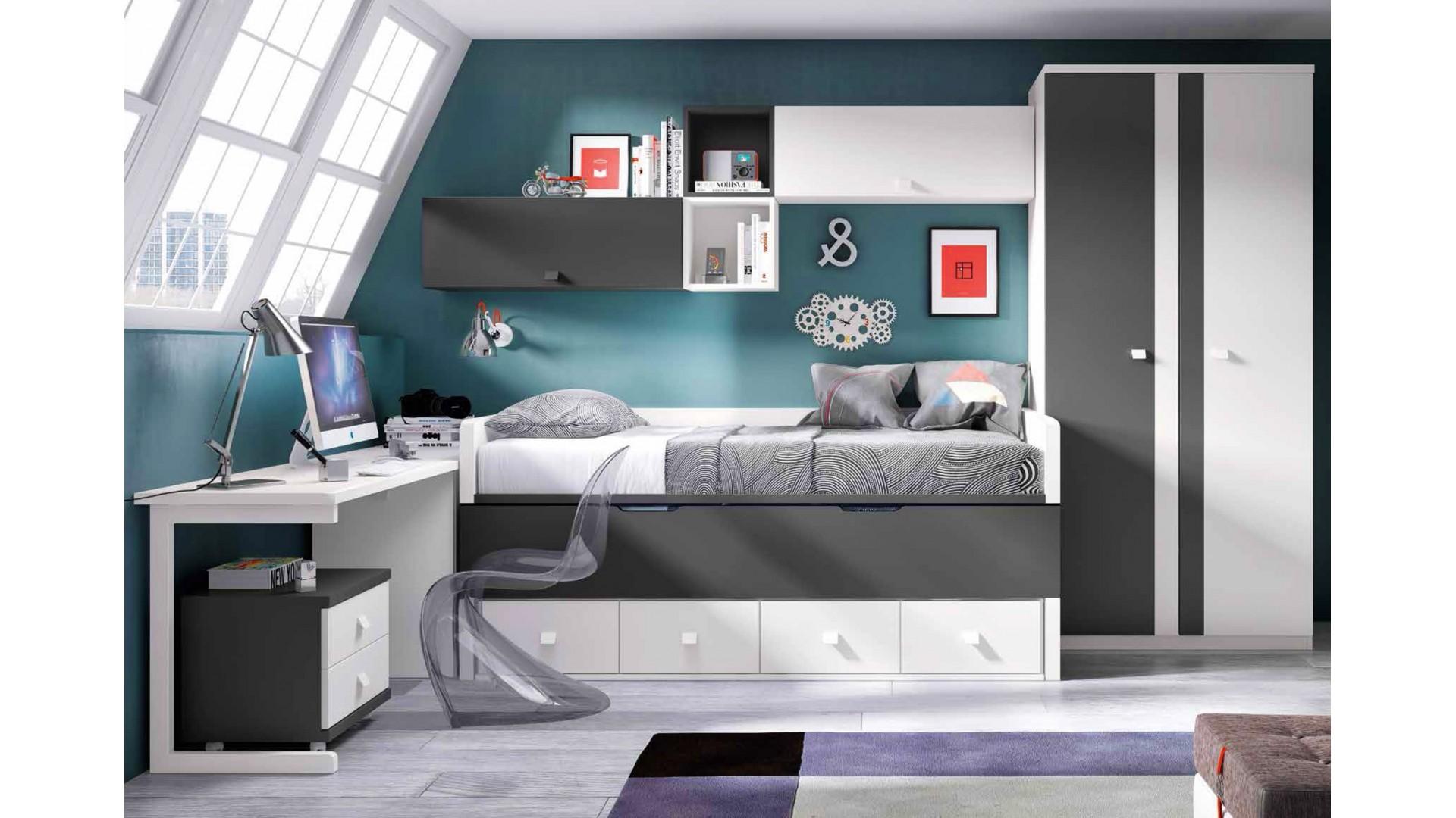 chambre ado garcon avec lit gigogne personnalisable f058 glicerio