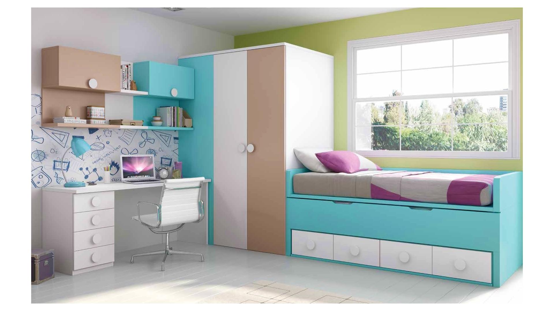 chambre ado garcon avec lit gigogne personnalisable f068 glicerio