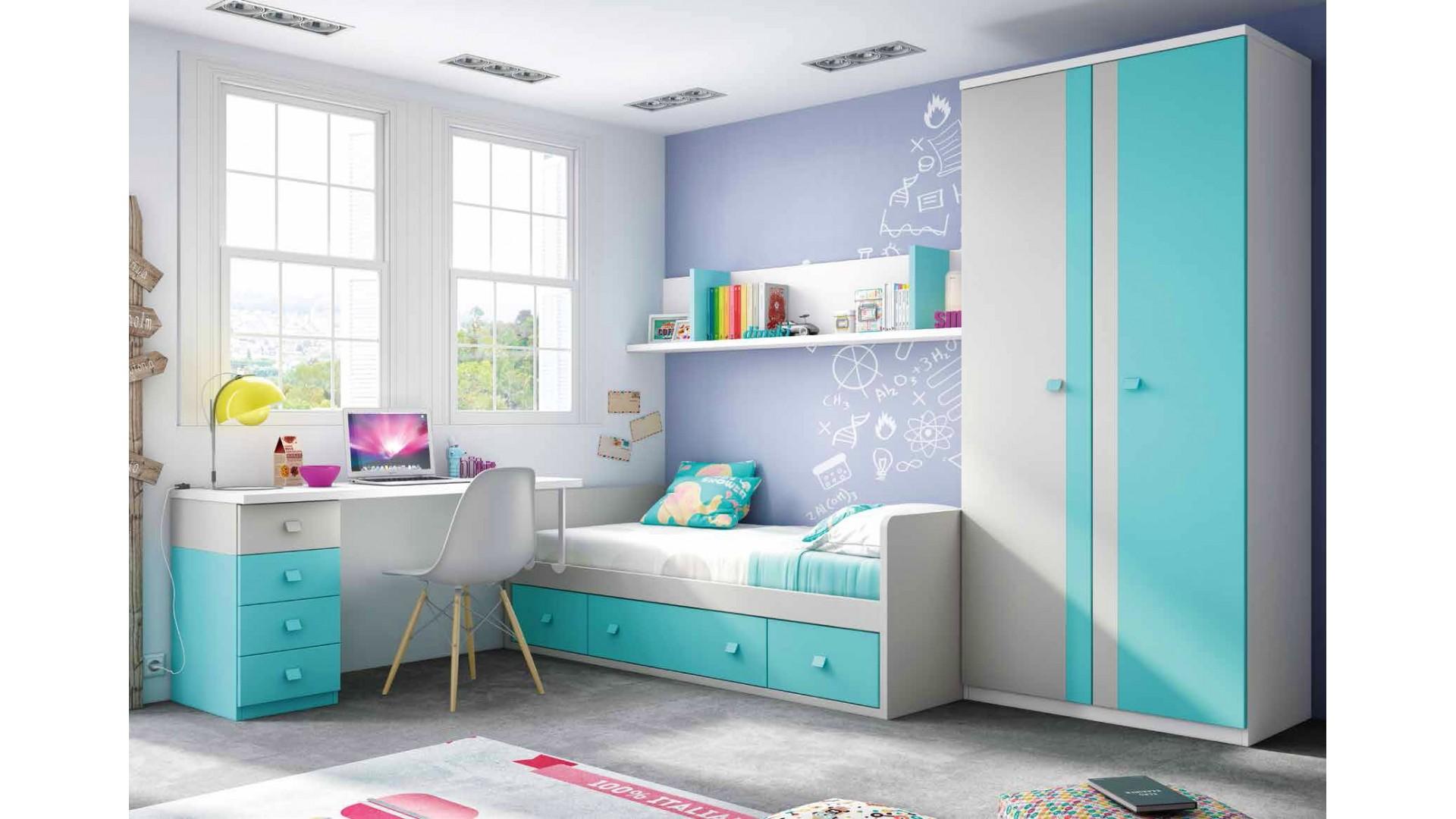 Chambre enfant garcon avec lit canap et bureau  GLICERIO  SO NUIT