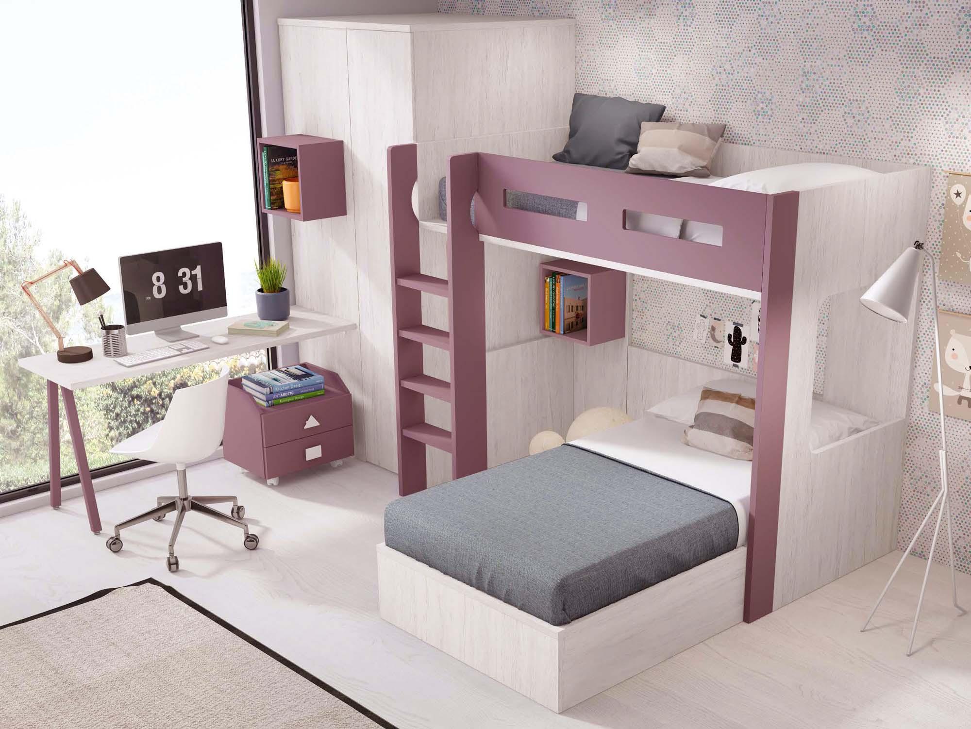 lit superpose separable avec armoire et bureau personnalisable f265 glicerio