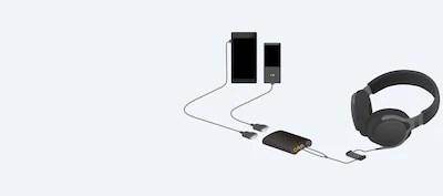 hi resolution amp and headphones [ 1400 x 620 Pixel ]