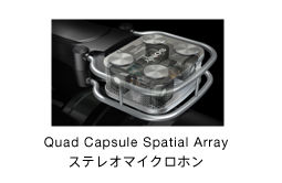 Quad Capsule Spatial Array ステレオマイクロホン