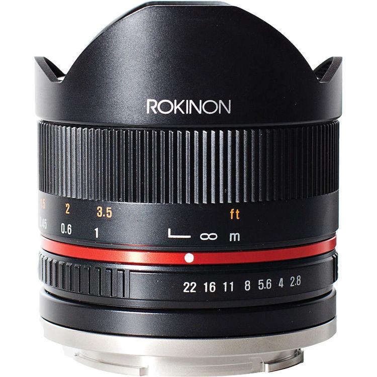 Rokinon 8mm f/2.8 UMC Fisheye II Lens