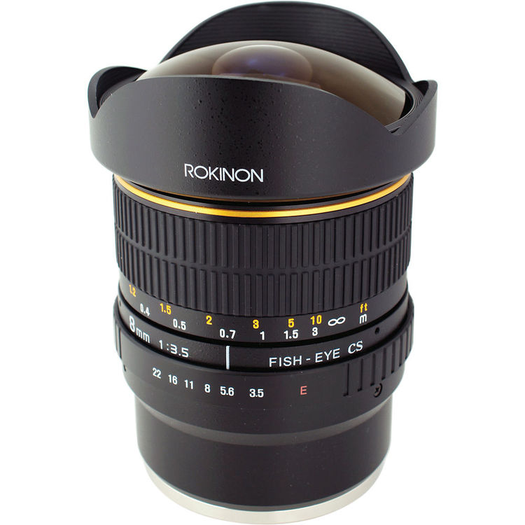 Rokinon 8mm Ultra Wide Angle f/3.5 Fisheye Lens