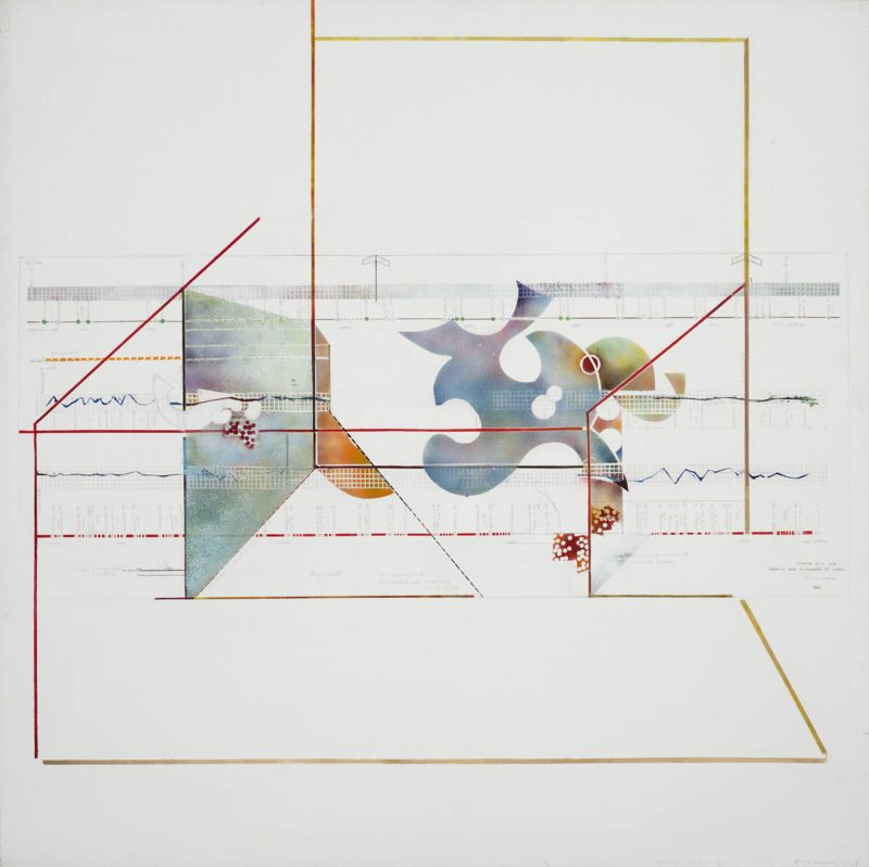 Sonya Rapoport, White Survey Chart Painting