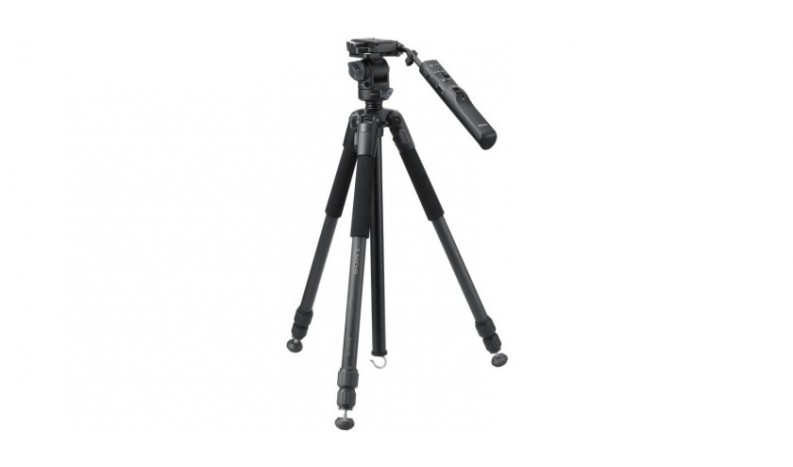 Sony VCT-VPR10 is a carbon fiber tripod with remote