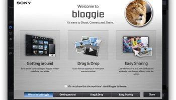 Bloggie Software Update 1 3 Available for Mac OS X