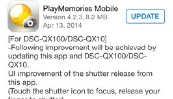 PlayMemories Mobile App for iOS and Android Received Major Update